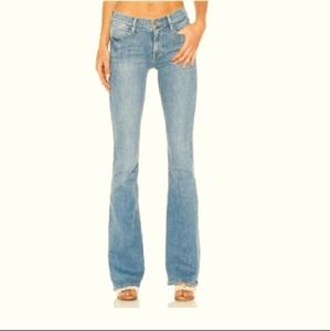 Frame Le High rise Flare jeans distressed blue 27